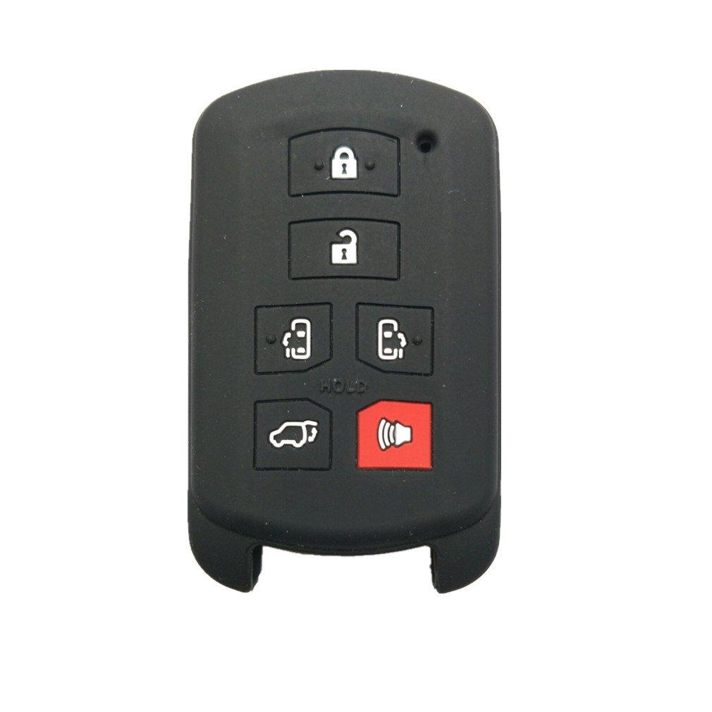 リモートスマートキーケースカバーチェーンバッグ交換用 ブラック HYQ14ADR B B0763GN3BP 1 1