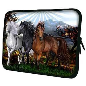 "AES - Horses Pattern 7""/10""/13"" Laptop Sleeve Case for MacBook Air Pro/Ipad Mini/Galaxy Tab2/Sony/Google Nexus 18213 , 13"""