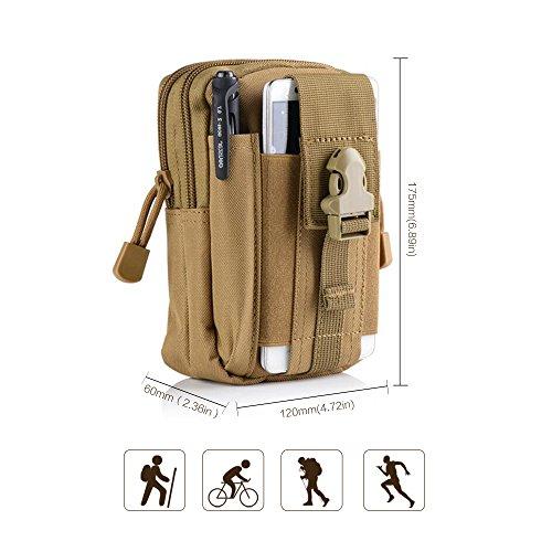Tactical waist bag da uomo outdoor viaggio sport borsetta sacchetto portafoglio cellulare cachi