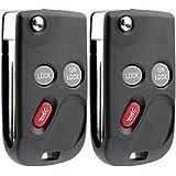 KeylessOption Keyless Entry Remote Car Flip Ignition Key Fob for 15732803 Tahoe Silverado Suburban (Pack of 2)