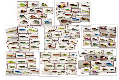 Akuna Bulk Pack with Fishing Lures, 112 Crank Baits, Spoons and Spinner Baits by Akuna