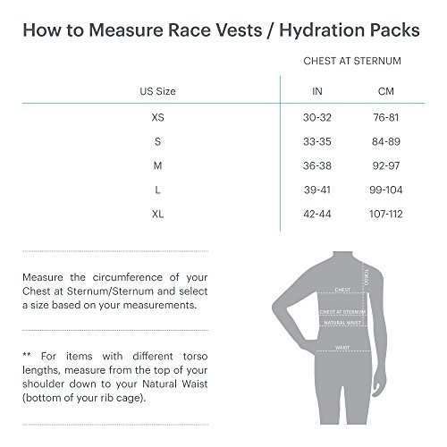 Nathan NS4535 Vaporkrar Hydaration Pack Running Vest with 1.5L Bladder, Steel Grey, X-Small by Nathan (Image #4)