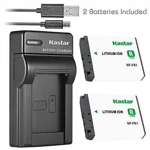 Kastar Battery (X2) & Slim USB Charger for Sony NP-FR1, BC-TR1, TRN and Sony Cyber-Shot DSC-F88, DSC-G1, DSC-P100, DSC-P100/LJ, DSC-P100/R, DSC-P120, DSCP150, DSC-P200, DSC-T30, DSC-T50, DSC-V3 Camera