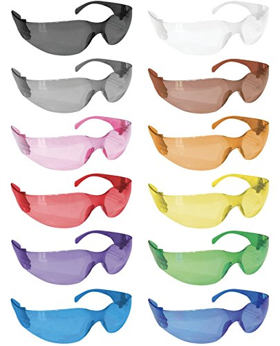 SAFE HANDLER Safety Glasses, Full Color with Polycarbonate Lens, Variety Pack (Box of 12)