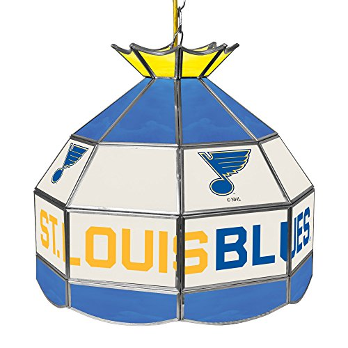 Trademark Global NHL 16 inch Handmade Tiffany Style Lamp - St. Louis Blues ()