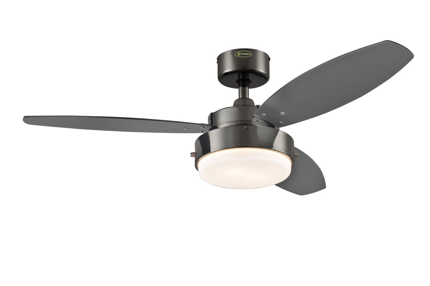 Westinghouse 7801665 comet two light 52 inch reversible five blade westinghouse lighting alloy 42 inch ceiling fan gun metal finish aloadofball Gallery