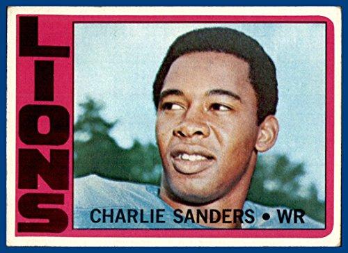 1972 Topps #60 Charlie Sanders DETROIT LIONS MINNESOTA GOLDEN GOPHERS(ex)