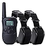 Pet Training Collar Waterproof Rechargeable Shock 300 Yards Electronic Trainer For Dogs