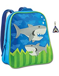 Stephen Joseph Boys Shark Backpack and Zipper Pull with Activity Pad