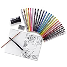 Prismacolor Premier Pencils Adult Coloring Kit with Blender, Art Marker, Eraser, Sharpener & Booklet, 29 Piece, Assorted