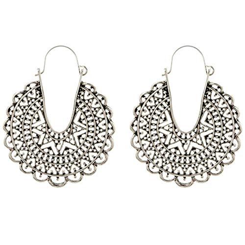 Jewelry Heart Earrings Drop (Yugiose Women Fashion Boho Style Heart Shape Hollow Dangle Drop Earrings Jewelry Gift Drop & Dangle)