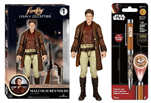 [Super Hero Firefly - Malcolm Reynolds Action Figure & Free Star Wars Projector Pen, Colors may vary] (Firefly Kids Costumes)