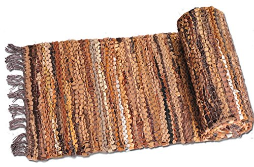 Woven Table Runner (Home Furnishings by Larry Traverso Tucson Leather 13-Inch by 78-Inch Table Runner)