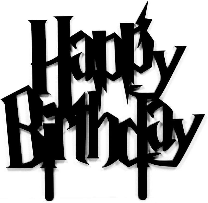 Acrylic Art Design Happy Birthday Harry Potter Cake Topper
