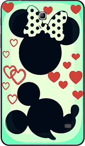 Cute Mouse Face Silhouette with Hearts Design Print Image Galaxy Tab 4 (7 in.) Vinyl Decal Sticker Skin by Trendy Accessories