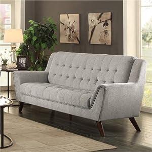 Amazoncom Coaster Baby Natalia Retro MidCentury Modern Sofa