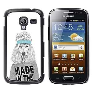 TopCaseStore / la caja del caucho duro de la cubierta de protección de la piel - Funny Made In The Usa Dog - Samsung Galaxy Ace 2 I8160 Ace II X S7560M