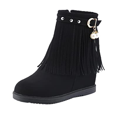 TM Fashion Women Warm Winter Casual Snow Increased Zip Short Ankle Boots
