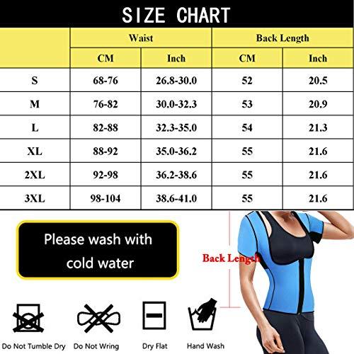 5d15207573 Women s Neoprene Sauna Vest Body Shaper Sweat Suit with Sleeves Spa Cami  Hot Slimming Workout Top