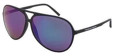 5f5252648a2 NEW Porsche Design P 8595 C Black Green-Blue Mirror Sunglasses   Amazon.co.uk  Clothing