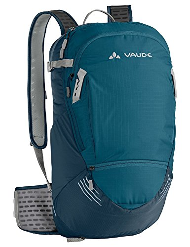 (VAUDE Hyper 14+3 Expendable Cycling Backpack - 17 Litre Padded Cycling Rucksack with Built-in Raincover - Ideal Bike Backpack with Bicycle Pump and Helmet Holder - Dark Petrol)