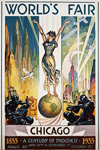 SAVA 200214 1933 Chicago Worlds Fair Decor Wall 36x24 Poster Print
