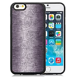 New Fashionable Designed For iPhone 6 4.7 Inch TPU Phone Case With Metal Carved Flower Pattern Phone Case Cover