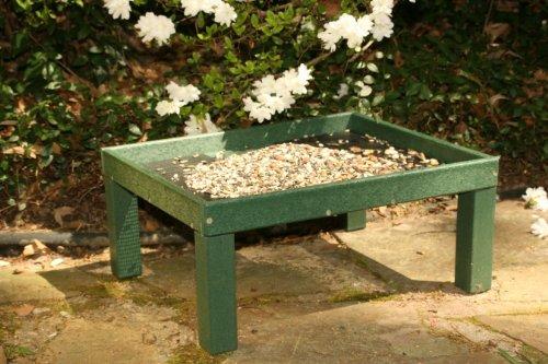 Rubicon Recycled Ground Platform Feeder by Songbird Essentials