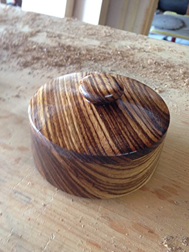 ZebraWood Salt Box