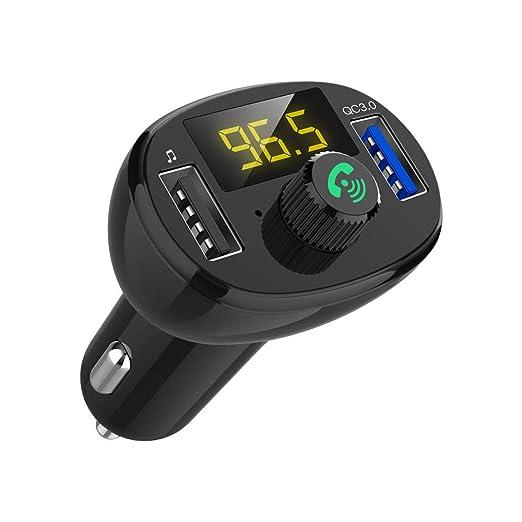 Transmisor FM Bluetooth Coche,Coche Bluetooth Reproductor De ...
