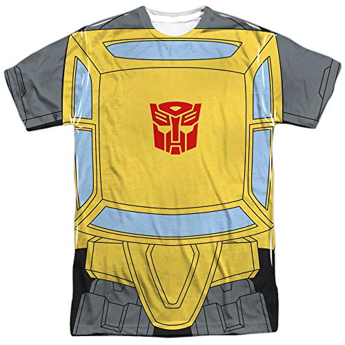 Transformers Bumblebee Costume Unisex Adult Front Only Sublimated T Shirt for Men and Women, Medium White for $<!--$19.50-->