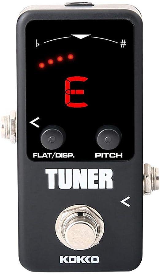 juman634 Mini Pedal afinador de Guitarra eléctrica monobloque para ...