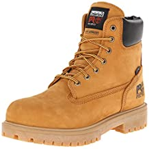 "Timberland PRO Men's Resistor 6"" WP Ins. Comp Toe Wheat Boot 10 W"