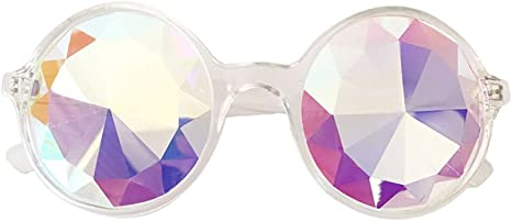 Colorful Rave Festival Party EDM Sunglasses Diffracted Lens FORUU Glasses