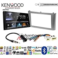 Volunteer Audio Kenwood DMX7704S Double Din Radio Install Kit with Apple CarPlay Android Auto Bluetooth Fits 2000-2003 Nissan Maxima (Without Bose)