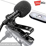 Lavalier Lapel Microphone  Omnidirectional Mic with Easy Clip On System  Perfect for Recording Youtube / Interview / Video Conference / Podcast / Voice Dictation / iPhone