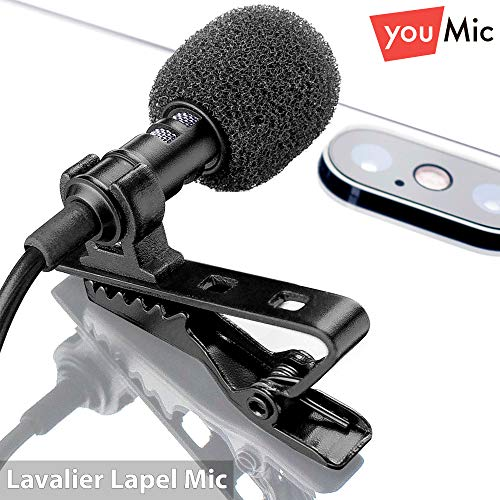 Best Professional Lavalier Lapel Microphone with Easy Clip On System |  Perfect for Recording Youtube Vlog Interview / Podcast | Best Mic for  iPhone