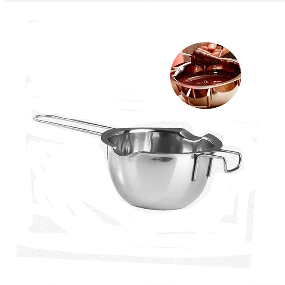 ICYANG Stainless Steel Chocolate Melting Pot Long Grip Handle Double Boiler Insert Milk Warmer Pastry Baking Tools Melted Butter Chocolate Cheese Caramel