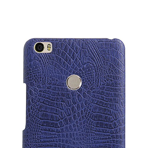 YHUISEN Xiaomi Mi Max caso, patrón de piel de cocodrilo clásico de lujo [ultra delgado] cuero de PU antirayaduras PC cubierta protectora de la caja dura para Xiaomi Mi Max ( Color : White ) Blue