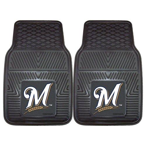 Fanmats 8842 MLB-Milwaukee Brewers Vinyl Universal Heavy Duty Fan Floor Mat (Milwaukee Brewers Mlb Car)