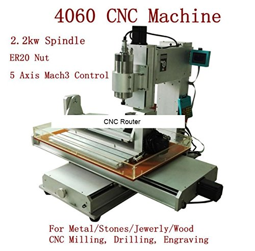 5 Axis CNC Router 4060 Small Vertical Engraver, Drilling, Milling Machine with 2.2KW (Cnc Vertical Machine)