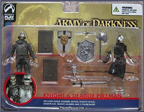 Distributoys Army of Darkness Knight and Deadite Pikeman Action Figures by - Army Darkness Palisades