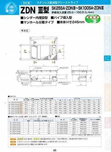 ZDNⅢ型 SK65SA-ZDNⅢ 鋼板製錆止め塗装蓋付