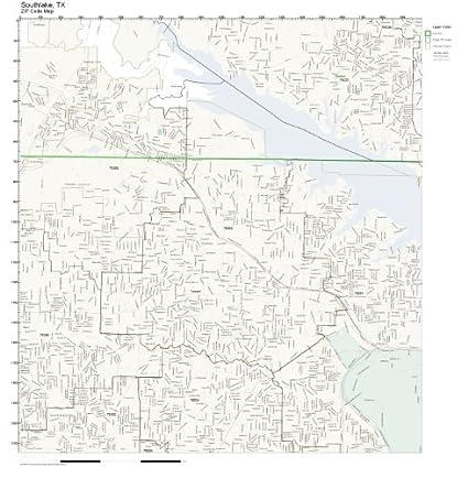 Southlake Tx Zip Code Map.Amazon Com Zip Code Wall Map Of Southlake Tx Zip Code Map