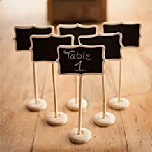 Zorpia® Mini Chalkboard Tag with Stand for Wedding and Party Table Markers Plant Markers Party Favors, Rectangle, Set of 6 by Zorpia