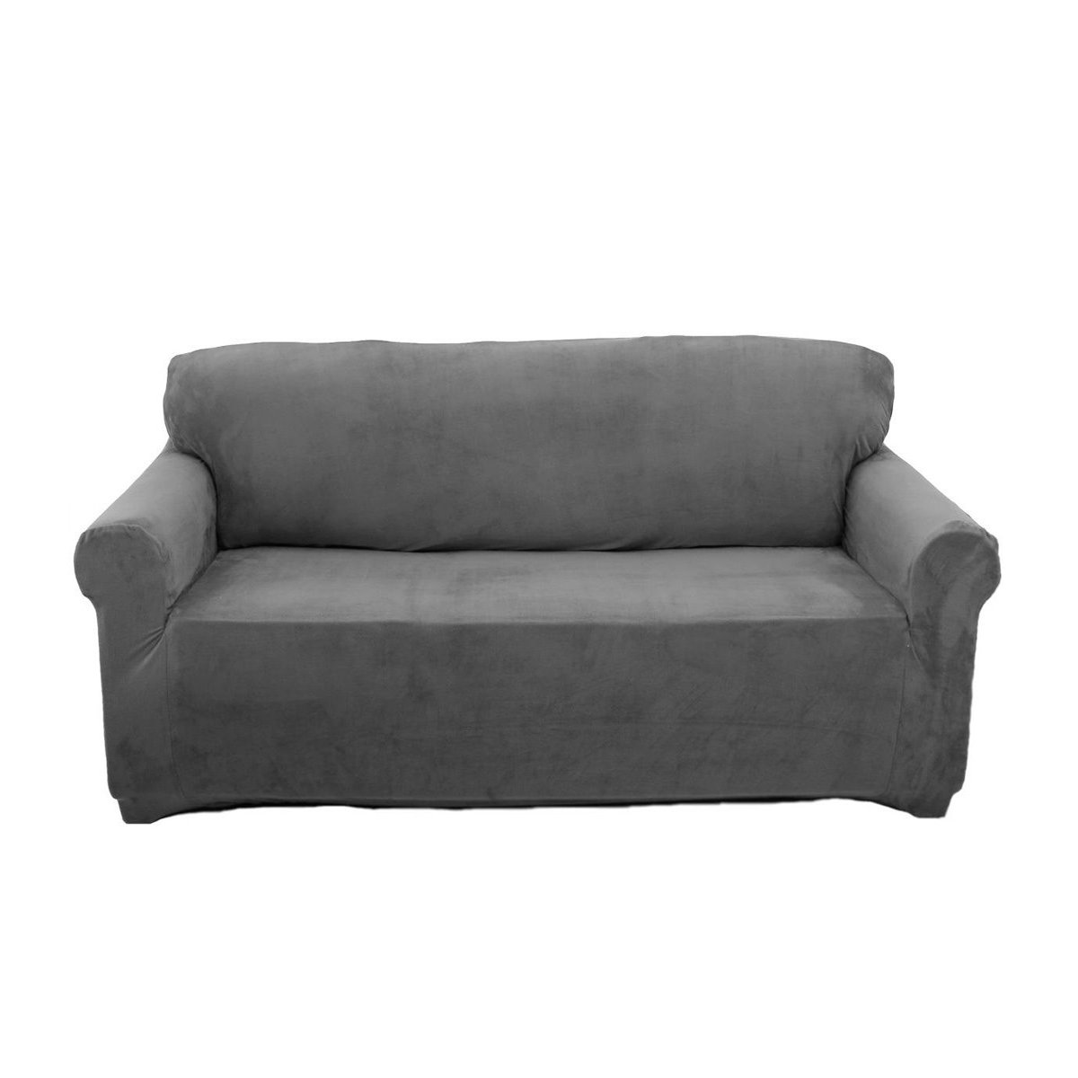 Sofa Covers Slip Over Easy Fit Elastic Fabric Couch Stretch Settee  Slipcovers Protector 2 Seater Grey: Amazon.co.uk: Kitchen U0026 Home