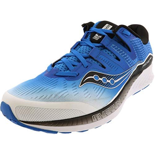 Saucony Ride ISO White/Black/Blue 10.5 EE