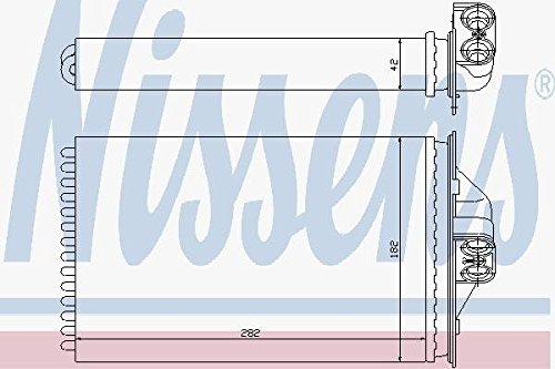 Innenraumheizung Nissens 70975 W/ärmetauscher