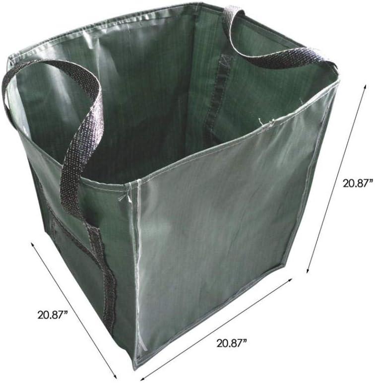 Bolsas Grandes De Hoja De Jardín para Trabajo Pesado Contenedor Plegable Reutilizable con Asa Ambiental-53X53X53Cm