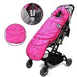 Wonder buggy Winter Outdoor Tour Waterproof Baby Infant Stroller Sleeping Bag Warm Footmuff Sack with Plush Interior (Pink)